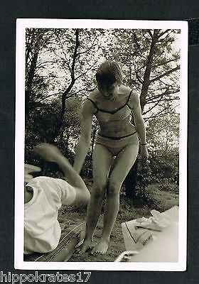 FOTO vintage PHOTO, Frau Bikini pretty lady woman swimwear jolie belle femme /55