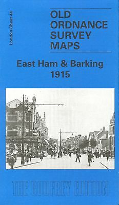 Old Ordnance Survey Map East Ham & Barking 1915