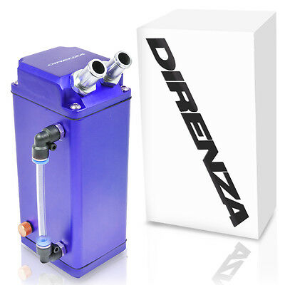 Direnza Blue Square Alloy Universal Race Drift Kit Car Engine Oil Catch Tank Can