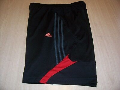 Adidas Climalite Black  And Red Athletic Shorts Mens Medium Excellent Condition