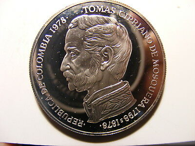 Colombia 750 Pesos, 1978, Conservation, Silvedr Proof, Mintage just 3,100