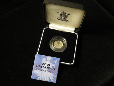 2001 Britannia Silver Proof 20 Pence Coin Royal Mint