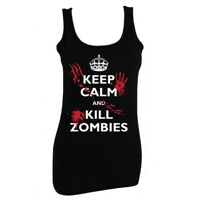 Keep Calm And Kill Zombies Women's Black Vest