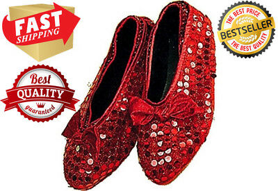 Dorothy Wizard Ruby Slipper Child Sequin Shoe Cover Halloween Costume Accessory