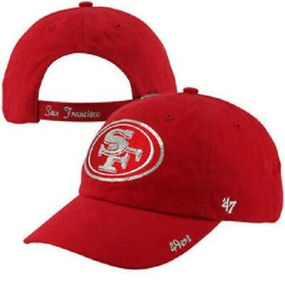 brand new 48869 f98e1 ... spain nfl womens san francisco 49ers sparkle clean up adjustable 47  brand hat cap e2fbc 94165