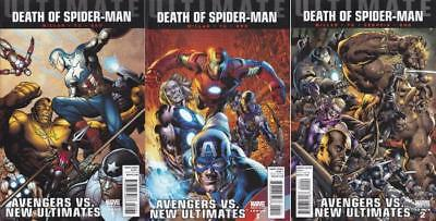 Ultimate Avengers Vs New Ultimates #1 1/25 Hitch, #1 & #2 1/20 Variant Set Of 3