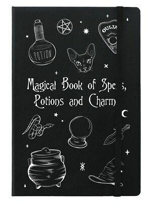Magical Book Of Spells Black A5 Notebook 14x21cm
