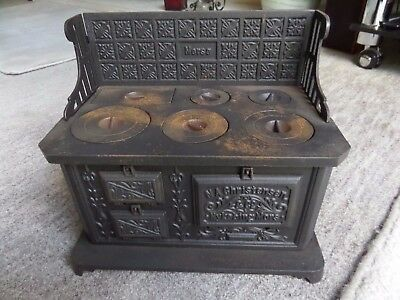 Antique 19thC Miniature Cast Iron Range Cooker Aga N A CHRISTENSEN Sales Sample