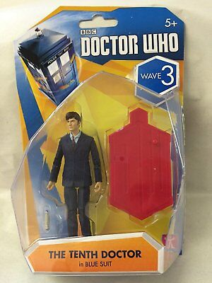 """DOCTOR WHO SERIES WAVE 3 TENTH DOCTOR in Blue Suit 3.75"""" SIZE  NEW #sjan16-09"""