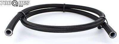 """AN -8 (8AN JIC-8 7/16"""") Black Stainless Steel Braided PTFE Fuel Hose 1m"""