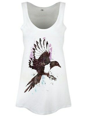 One For Sorrow Women's White Floaty Vest