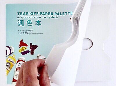 Disposable Paint Palette Tear off Paper.  Oil / Acrylic 25 x 30cm 40 sheets 60g