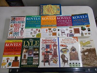 24 Antique Price Guides Picture Lot