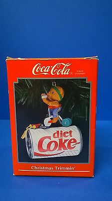 Enesco ornament Diet Coke can, Mouse on an excercise bike 1992