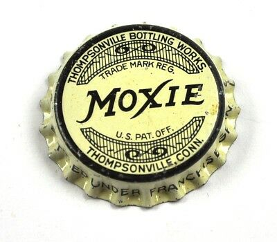 Vintage Moxie Thompsonville Soda Bier Kronkorken USA Bottle Cap Korkdichtung