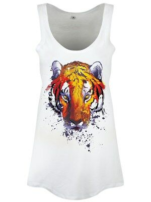 Unorthodox Burning Bright Floaty Women's White Vest