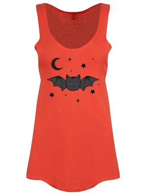 Creature Of The Night Halloween Women's Coral Vest