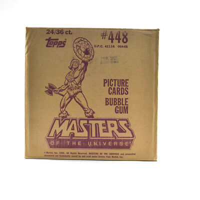 1984 Topps Masters of the Universe  Wax Box EMPTY Case #448 24/36 ct. 711