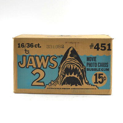 1978 Topps Jaws 2  Wax Box EMPTY Case #451 16/36 ct. 731