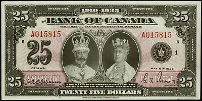 PHOTO MAGNET  CANADA 1935 Bank of Canada 25 dollar bill NOT REAL BANKNOTE