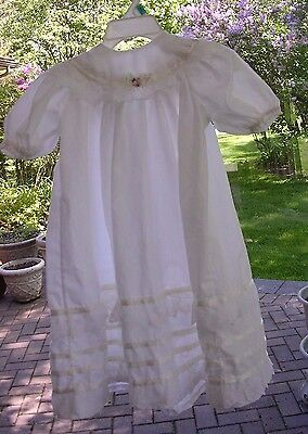 LOT OF 8 PCS  Vintage Baptismal Christening Baby/ Doll Gowns Bonnets Blanket ++