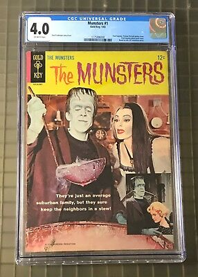 "THE MUNSTERS #1 Gold Key 1965 Comic Book CGC 4.0 "" HIGHEST GRADED """
