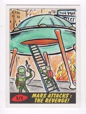 2017 Mars Attacks Revenge sketch card Barry Nygma (c)