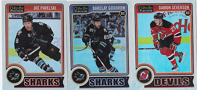 14-15 OPC Platinum Barclay Goodrow /199 Rookie White Ice OPEECHEE Sharks 2014