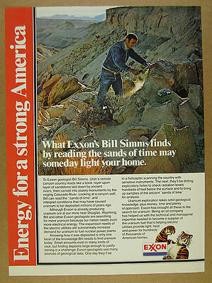 1978 Exxon Uranium Fuel geologist utah exploration photo vintage print Ad