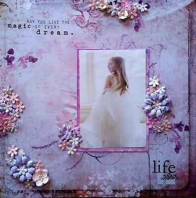 12 x 12 Handmade Scrapbook Page - May You Live The Magic of Every Dream