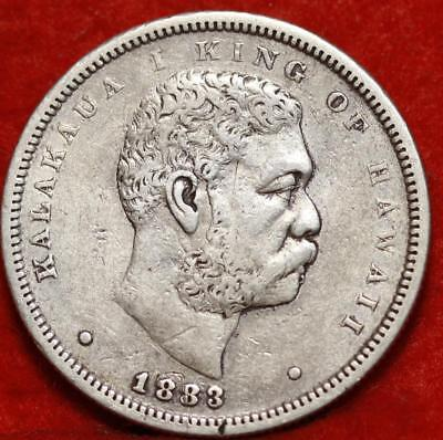 1883 Hawaii 50 Cents Silver Foreign Coin Free Shipping