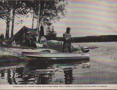 1954 Magazine Photo Fishing & Camping Aluma Craft Boat & Outboard Motor