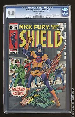 Nick Fury Agent of SHIELD (1968 1st Series) #15 CGC 9.0 0962502006
