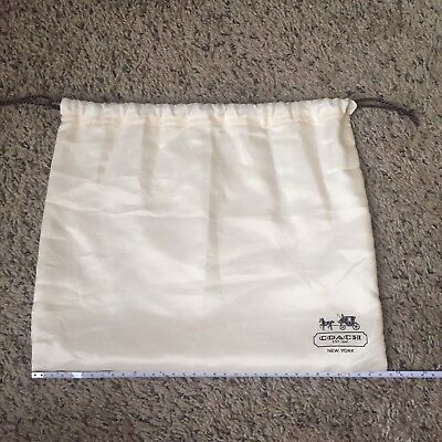 Coach Cream Dust Bag Lot 2 13x16 One 11x13