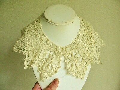 Antique Vintage Crochet Lace Collar
