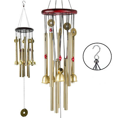 Large Wind Chimes 10 Tube Copper Church Bell Outdoor Garden Decor US