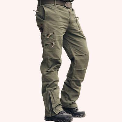 New Hot Sale Mens Casual Plus Size Cotton Breathable Multi Pocket Military Pants