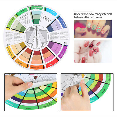 Wheel Guide Tool Mixing Artist Schemes Theory Home Decor Painting Crafts eb