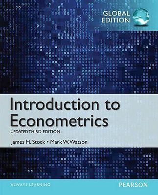 GLOBAL EDITION --- Introduction to Econometrics, Updated 3E by James H. Stock