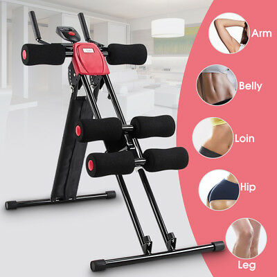 Home Gym Fitness AB ABS Roller Abdominal Crunch Muscle Exercise Machine Trainer