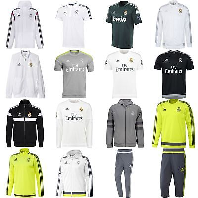 adidas MEN'S REAL MADRID JERSEY JACKETS POLOS PANTS TRACK SUITS TOPS FOOTBALL