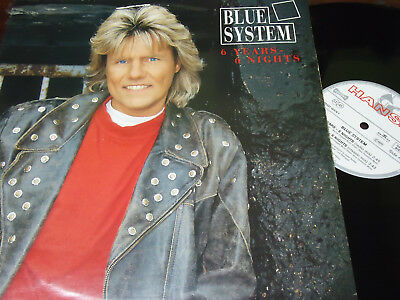 """BLUE SYSTEM – 6 Years - 6 Nights, LP 12"""" GERMANY 1994"""