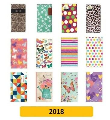 2018 SLIM Diary/Diaries - Week to View (School/Organiser) Designs, Patterns