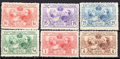 (231) Very Good Mounted Mint Set 1907 Spain. Madrid Industrial Expo