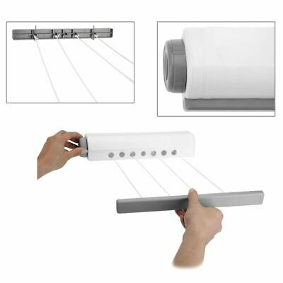 Retractable Wall Mounted Indoor Washing Clothes Laundry 4 Line Reel Airer Dryer