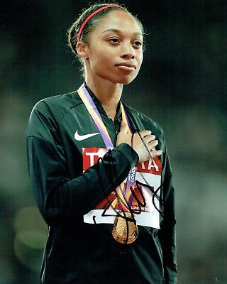 Allyson FELIX Autograph 10x8 Signed Photo C AFTAL COA USA Athlete Gold Medal