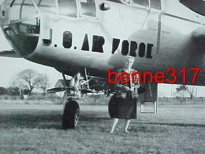 Vintage Photo WW II BOMBER Aircraft Airplane 8X10 B&W Excellent Condition
