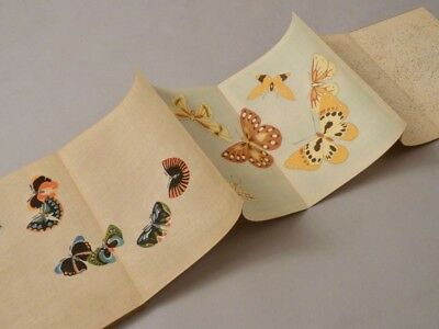 altes Leporello JAPAN Farbholzschnitte SCHMETTERLINGE butterflies