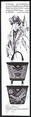 1968 Enid Collins Night Owl and Road Runner purse handbag bag vintage print ad