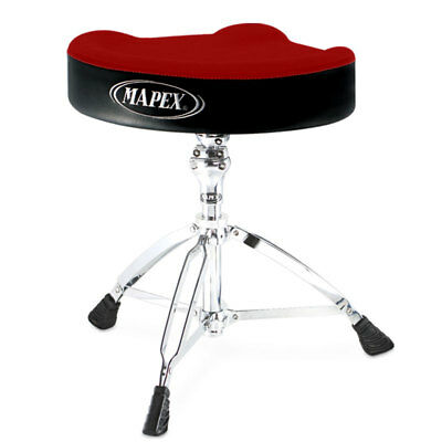 Mapex T765A Red Cloth Top Drum Throne, Threaded Base (NEW)